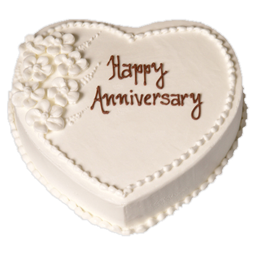 Heart Shaped Cake for Anniversary