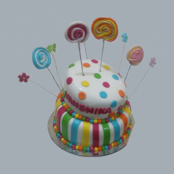 2 Tiered Butterflies Cake