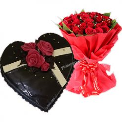 Chocolate Cake with Roses