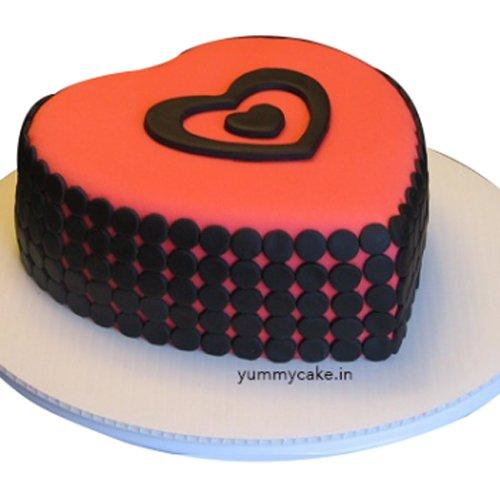 Heart Shape Designer Cake 1Kg