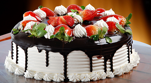 Black Forest Cake with Fresh Strawberries