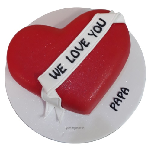Heart Shaped Birthday Cake for Papa