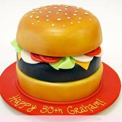 Burger Birthday Cake