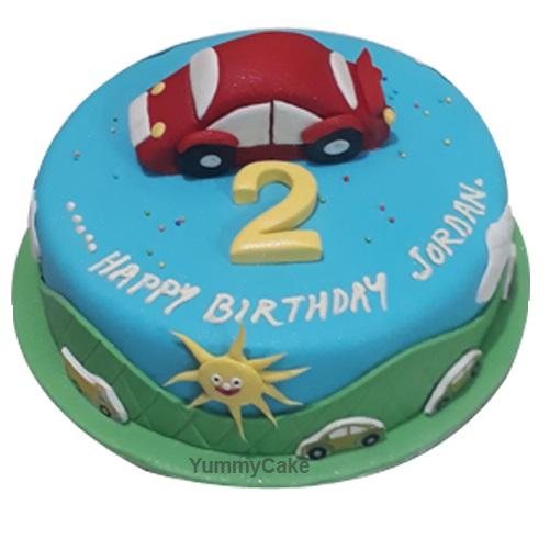 Strange 2Nd Birthday Cake For Boy In Delhi 2Nd Birthday Cake Designs Personalised Birthday Cards Cominlily Jamesorg