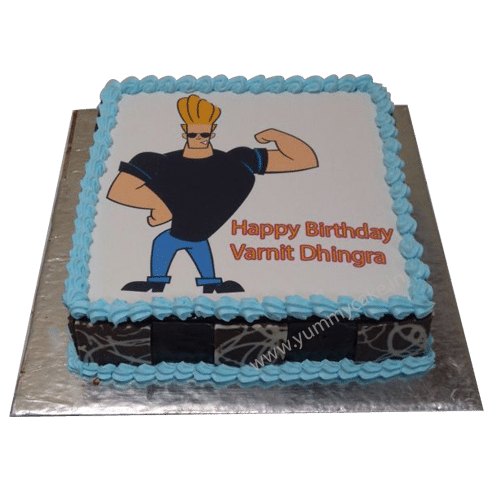 Johnny Bravo Birthday Cake