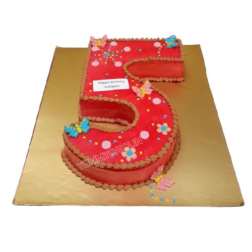 5 Year Birthday Cake