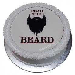Bearded Man Cake