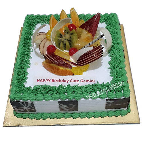 Celebration Smile Fruit Cake